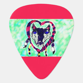 Wolf dream catcher guitar pick