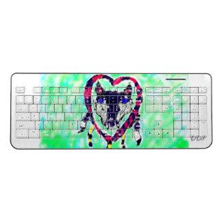 Wolf dream catcher wireless keyboard