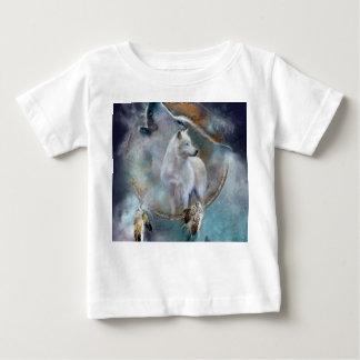 Wolf dreamcatcher - white wolf  - wolf art baby T-Shirt