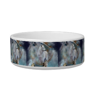 Wolf dreamcatcher - white wolf  - wolf art bowl