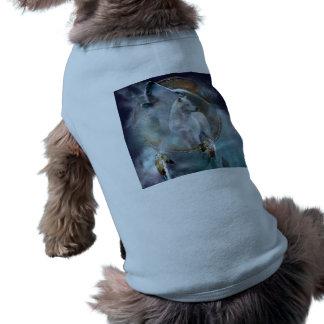 Wolf dreamcatcher - white wolf  - wolf art shirt