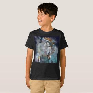 Wolf dreamcatcher - white wolf  - wolf art T-Shirt