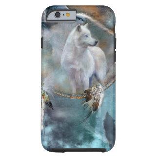 Wolf dreamcatcher - white wolf  - wolf art tough iPhone 6 case