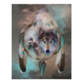 Wolf - Dreams Of Peace Art Poster/Print Poster