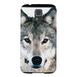Wolf Eyes in woods wild nature animal Print Galaxy S5 Cases