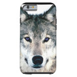 Wolf Eyes in woods wild nature animal Tough iPhone 6 Case