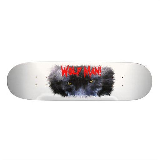 WOLF EYES Wildlife Fantasy Custom Skateboard