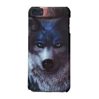 Wolf face in space,Blue wolf painting iPod Touch (5th Generation) Cover