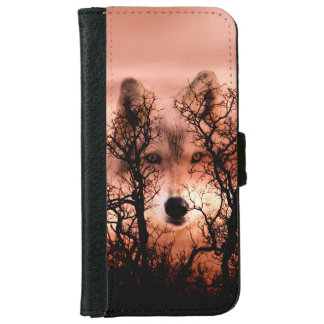 Wolf face in the sky iPhone 6 wallet case