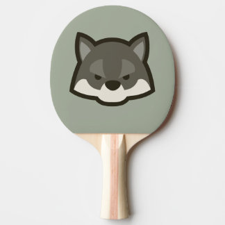 Wolf Face Ping Pong Paddle