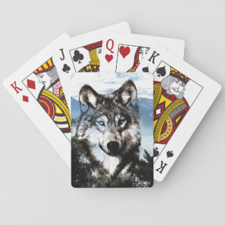 Wolf face playing cards