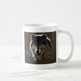 Wolf Face Portrait Coffee Mug