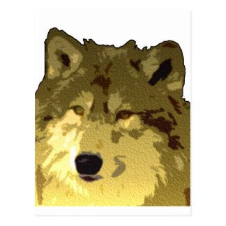 Wolf Face Postcard