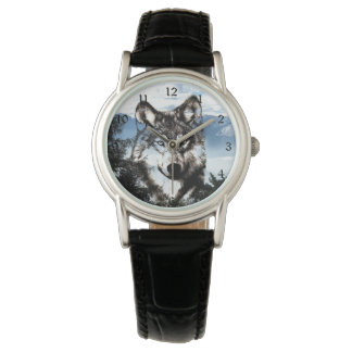 Wolf face watch