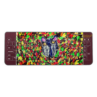 wolf fall art 2 wireless keyboard