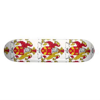 Wolf Family Crest Custom Skate Board