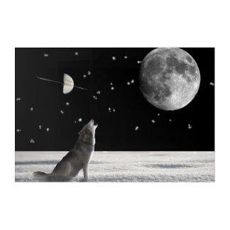 Wolf-fantasy Acrylic Wall Art