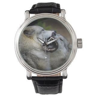 Wolf Fight Wristwatch