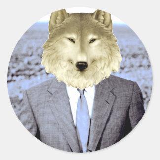 Wolf Flow Classic Round Sticker