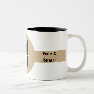 Wolf Free and smart Two-Tone Coffee Mug