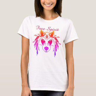 Wolf Free Spirit Boho Style t-shirt