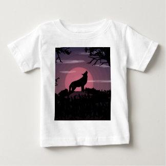 wolf full moon baby T-Shirt