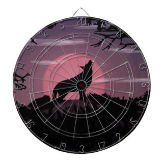 wolf full moon dartboard