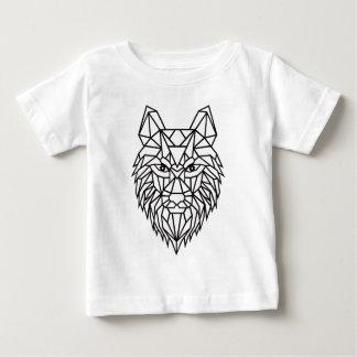 wolf geometric black baby T-Shirt