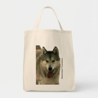 Wolf Grocery Tote Bag
