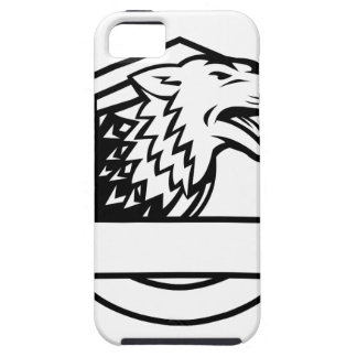 Wolf Growling Crest Retro iPhone 5 Case