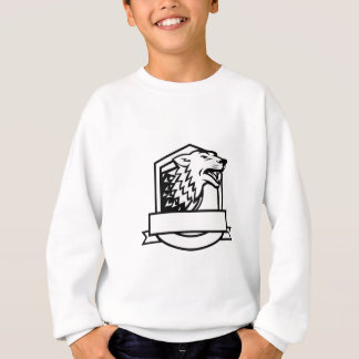 Wolf Growling Crest Retro Sweatshirt
