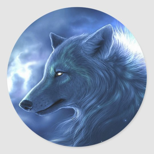 Wolf Guardian Classic Round Sticker