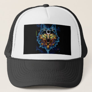 WOLF HAT, TRIPPY, STRONG, COSMIC TRUCKER HAT