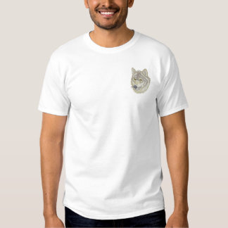 Wolf Head Embroidered T-Shirt