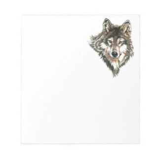 Wolf Head logo Watercolor art Notepad