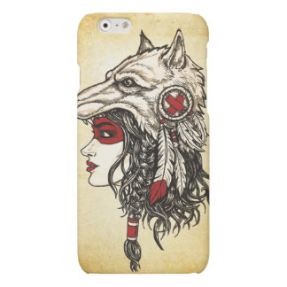 Wolf Headdress iPhone 6 Matte Case