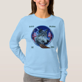 Wolf Home Of The Brave T-Shirt
