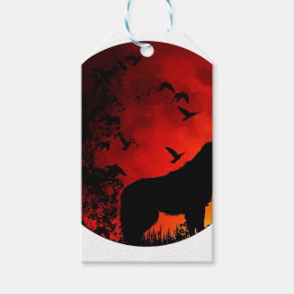 wolf howl pack of gift tags