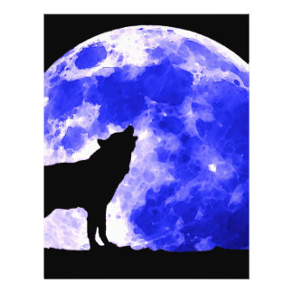 Wolf Howling at Moon Flyers