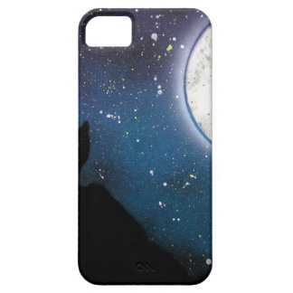 Wolf Howling at Moon Spray Paint Art Painting iPhone 5 Case