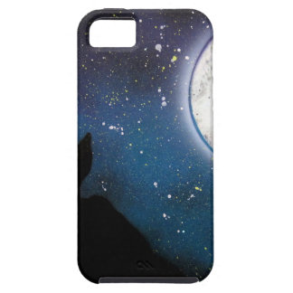Wolf Howling at Moon Spray Paint Art Painting iPhone 5 Covers