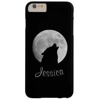 Wolf Howling at The Full Moon, Your Name Barely There iPhone 6 Plus Case