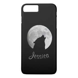 Wolf Howling at The Full Moon, Your Name Case-Mate iPhone Case
