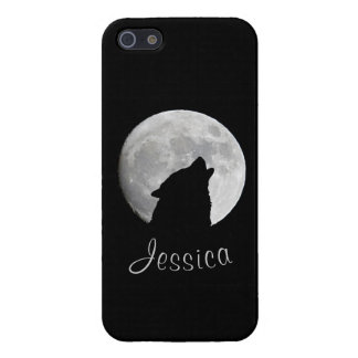 Wolf Howling at The Full Moon, Your Name iPhone 5/5S Covers
