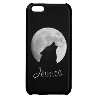 Wolf Howling at The Full Moon, Your Name iPhone 5C Cases