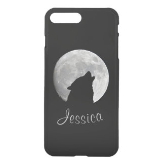 Wolf Howling at The Full Moon, Your Name iPhone 7 Plus Case