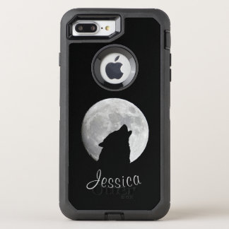 Wolf Howling at The Full Moon, Your Name OtterBox Defender iPhone 8 Plus/7 Plus Case