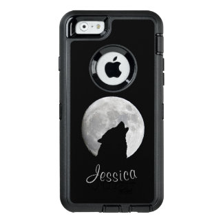 Wolf Howling at The Full Moon, Your Name OtterBox Defender iPhone Case
