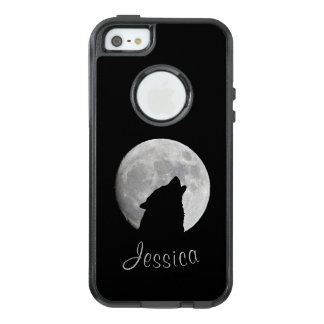 Wolf Howling at The Full Moon, Your Name OtterBox iPhone 5/5s/SE Case