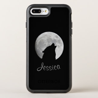 Wolf Howling at The Full Moon, Your Name OtterBox Symmetry iPhone 8 Plus/7 Plus Case